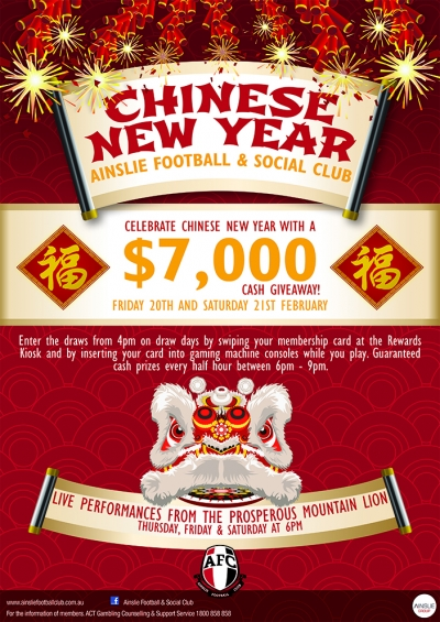 Celebrate Chinese New Year @ Ainslie Football Club